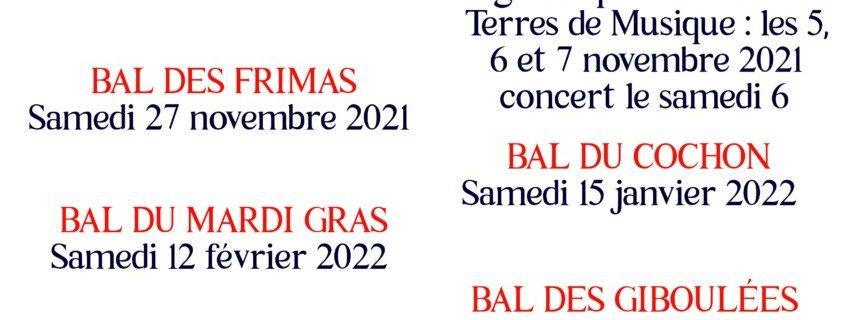 Saison culturelle 2021/2022 : notez les dates !